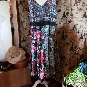 BOHO Coline cotton lined dress